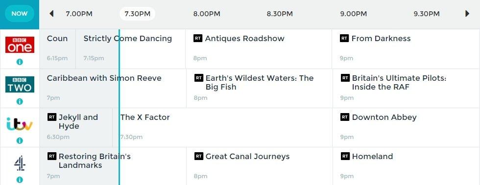 Radio Times online listing